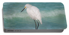 One With Nature - Snowy Egret Portable Battery Charger