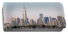 One World Trade Center And Ellis Island 2 Portable Battery Charger