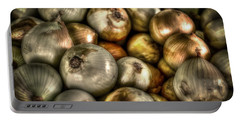 Onions Portable Battery Charger by David Morefield