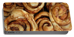 Ooey Gooey Cinnamon Buns Portable Battery Charger by Brian Chase