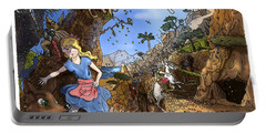 Portable Battery Charger featuring the painting Open Sesame by Reynold Jay