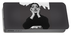 Opera Singer Maria Callas Cecil Beaton Photo No Date-2010 Portable Battery Charger by David Lee Guss