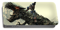 Optimus Prime Riding Grimlock Portable Battery Charger