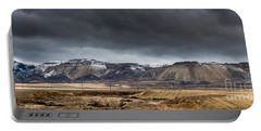 Oquirrh Mountains Winter Storm Panorama 2 - Utah Portable Battery Charger