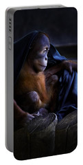 Orang Utan Youngster With Blanket Portable Battery Charger by Peter v Quenter