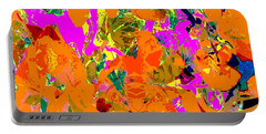 Portable Battery Charger featuring the digital art Orange Abstract by Barbara Moignard