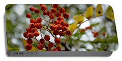 Orange Autumn Berries Portable Battery Charger