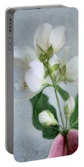 Orange Blossom Time Portable Battery Charger by Louise Kumpf