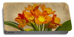 Orange Clivia Lily  Portable Battery Charger