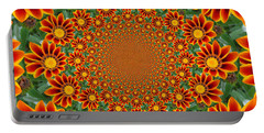Orange Crazy Daisy Portable Battery Charger