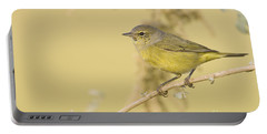 Orange Crowned Warbler Portable Battery Charger by Bryan Keil