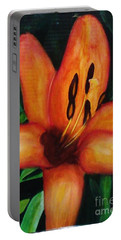 Beautiful Lily Flower Portable Battery Charger