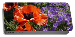 Orange Flowers Portable Battery Charger by Alan Socolik
