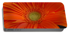 Orange Gerber Daisy Portable Battery Charger