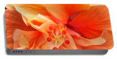 Portable Battery Charger featuring the photograph Orange Hibiscus by Karen Zuk Rosenblatt