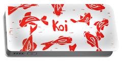 Orange Lazy Koi Portable Battery Charger