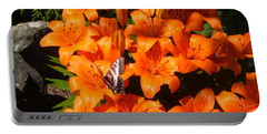 Orange Lilies Portable Battery Charger by Sharon Duguay