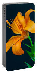 Orange Lily Profile Portable Battery Charger