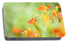 Portable Battery Charger featuring the photograph Orange Meadow by Ann Lauwers
