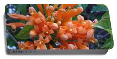 Orange Petals Portable Battery Charger