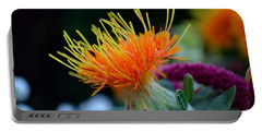 Orange Safflower Portable Battery Charger