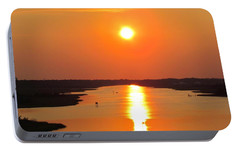 Portable Battery Charger featuring the photograph Orange Sunset by Cynthia Guinn