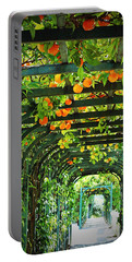 Portable Battery Charger featuring the photograph Oranges And Lemons On A Green Trellis by Brooke T Ryan