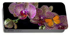 Orchid And Orange Butterfly Portable Battery Charger