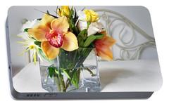 Orchid Bouquet Portable Battery Charger by Irina Sztukowski