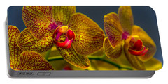 Orchid Color Portable Battery Charger by Marvin Spates