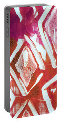 Orchid Diamonds- Abstract Painting Portable Battery Charger
