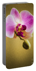 Orchid In Digital Oil - Impasto Portable Battery Charger