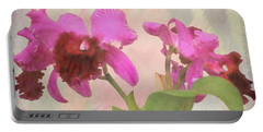 Orchid In Hot Pink Portable Battery Charger