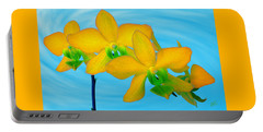 Orchid In Yellow Portable Battery Charger