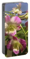 Portable Battery Charger featuring the photograph Orchid Splendor by Karen Zuk Rosenblatt