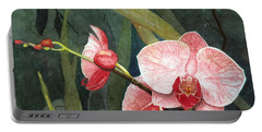 Orchid Trio 2 Portable Battery Charger by Barbara Jewell