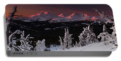 Oregon Cascades Winter Sunset Portable Battery Charger by Kevin Desrosiers