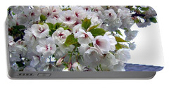 Oregon Cherry Blossoms Portable Battery Charger