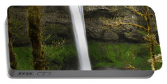 Oregon Waterfall Woodland Portable Battery Charger by Andrea Hazel Ihlefeld