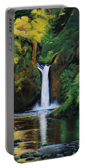 Oregon's Punchbowl Waterfalls Portable Battery Charger