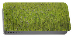 Organic Green Grass Backround Portable Battery Charger