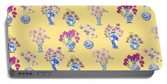 Oriental Vases With Orchids Portable Battery Charger by Kimberly McSparran