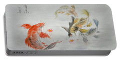 Original Animal  Oil Painting Art- Goldfish Portable Battery Charger by Hongtao     Huang
