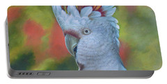 Original Animal Oil Painting Art -parrot #16-2-5-17 Portable Battery Charger by Hongtao     Huang