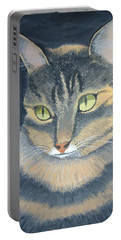 Original Cat Painting Portable Battery Charger by Norm Starks
