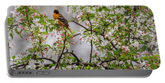 Oriole In Crabapple Tree Portable Battery Charger
