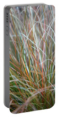 Ornamental Grass Abstract Portable Battery Charger by E Faithe Lester