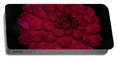 Ornate Red Dahlia Portable Battery Charger