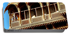 Ornate Terrace Balcony Windows Jaisalmer Fort Rajasthan India Portable Battery Charger