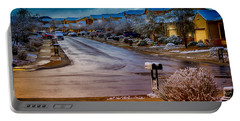 Oro Valley Winter No.54 Portable Battery Charger by Mark Myhaver